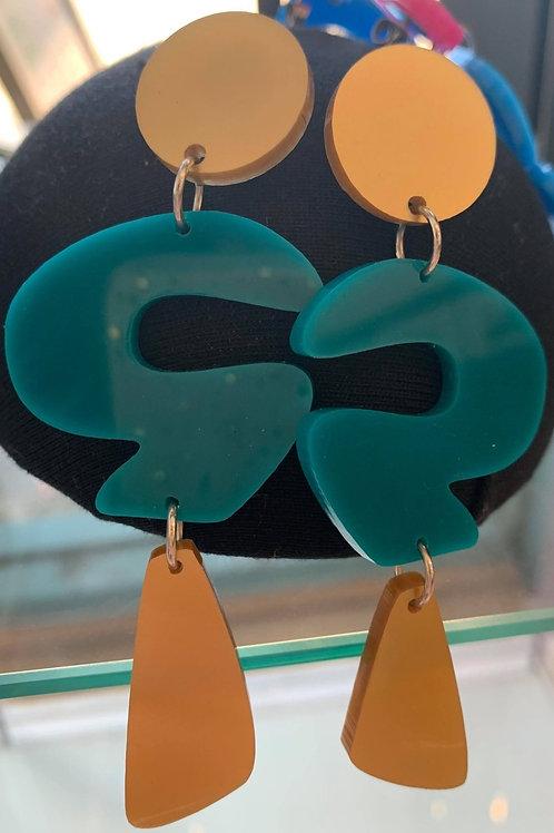 Trixey (Green) Earrings