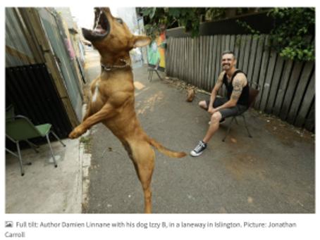 Damien Linnane featured in the Newcastle Herald