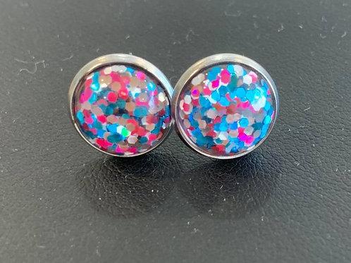 Glitter Stud Earrings