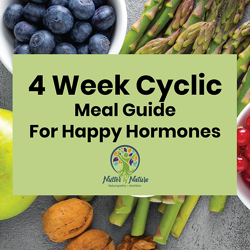 4 Week Cyclic Meal Guide for Happy Hormones
