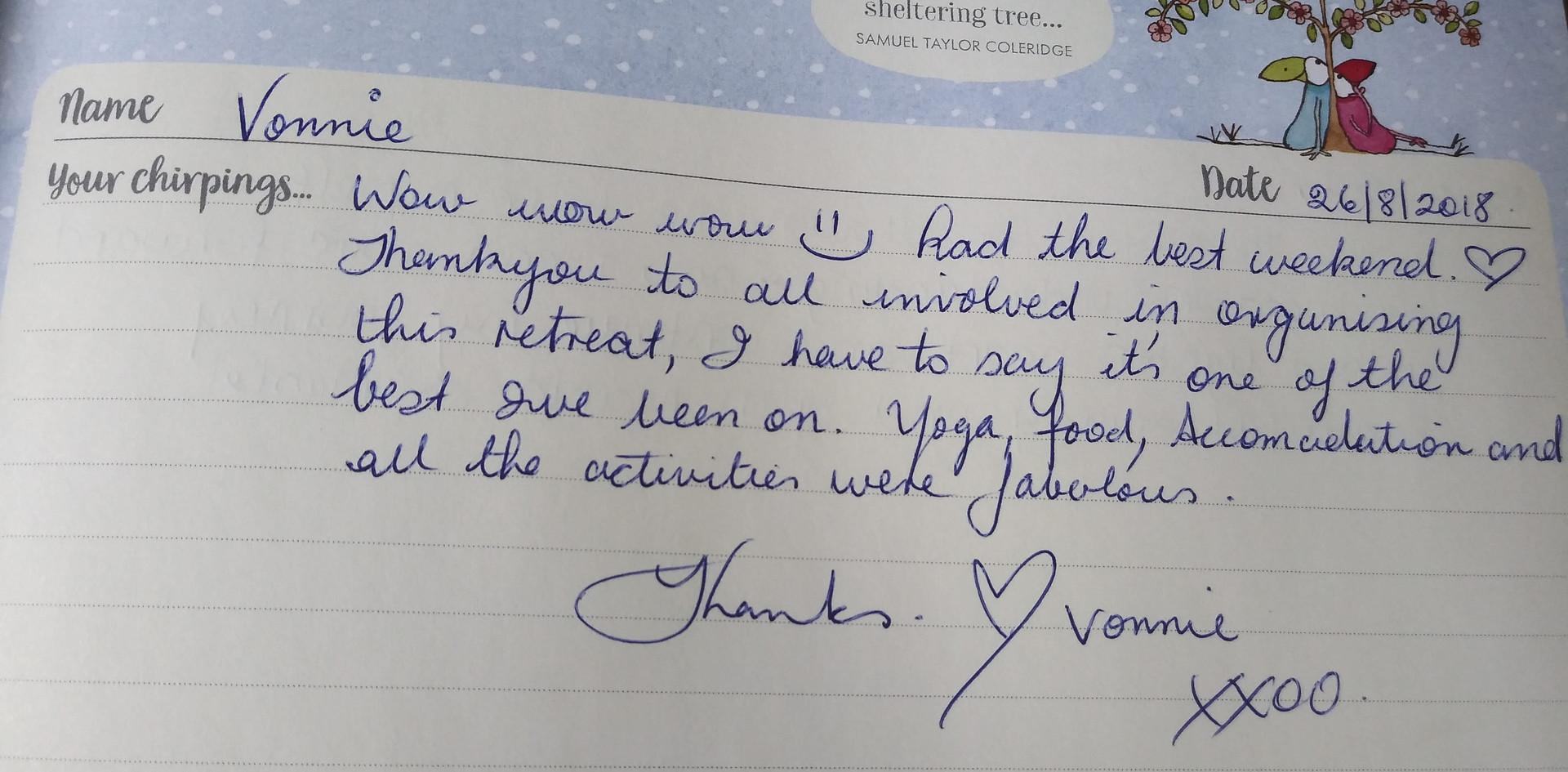 From Vonnie