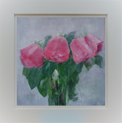 Pink Flowers in Frame 3b