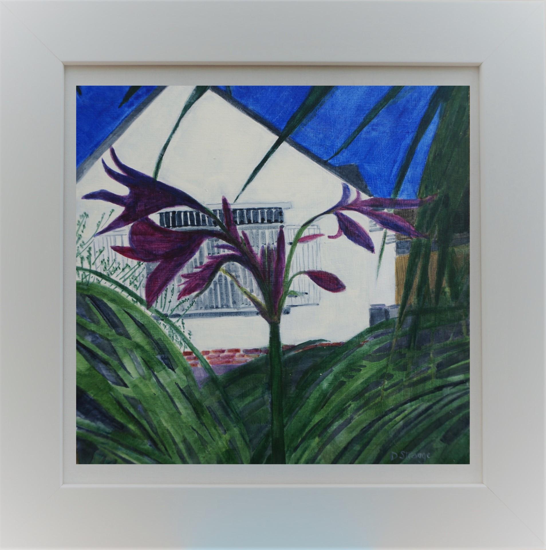 Purple Flowers in Frame 3b