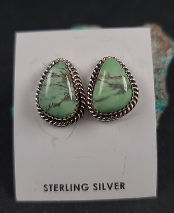 Sterling Silver Australian Variscite  Earrings (J0102)