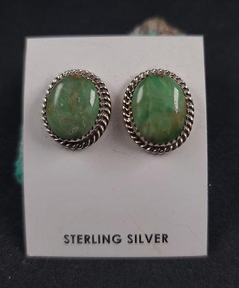 Sterling Silver Australian Variscite  Earrings (J0101)