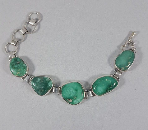 Sterling Silver Broken Arrow Chain-link Bracelet (J0008)