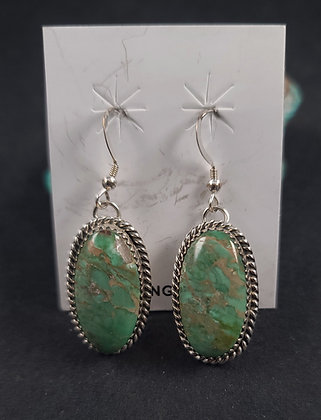 Sterling Silver Australian Variscite  Earrings (J0103)