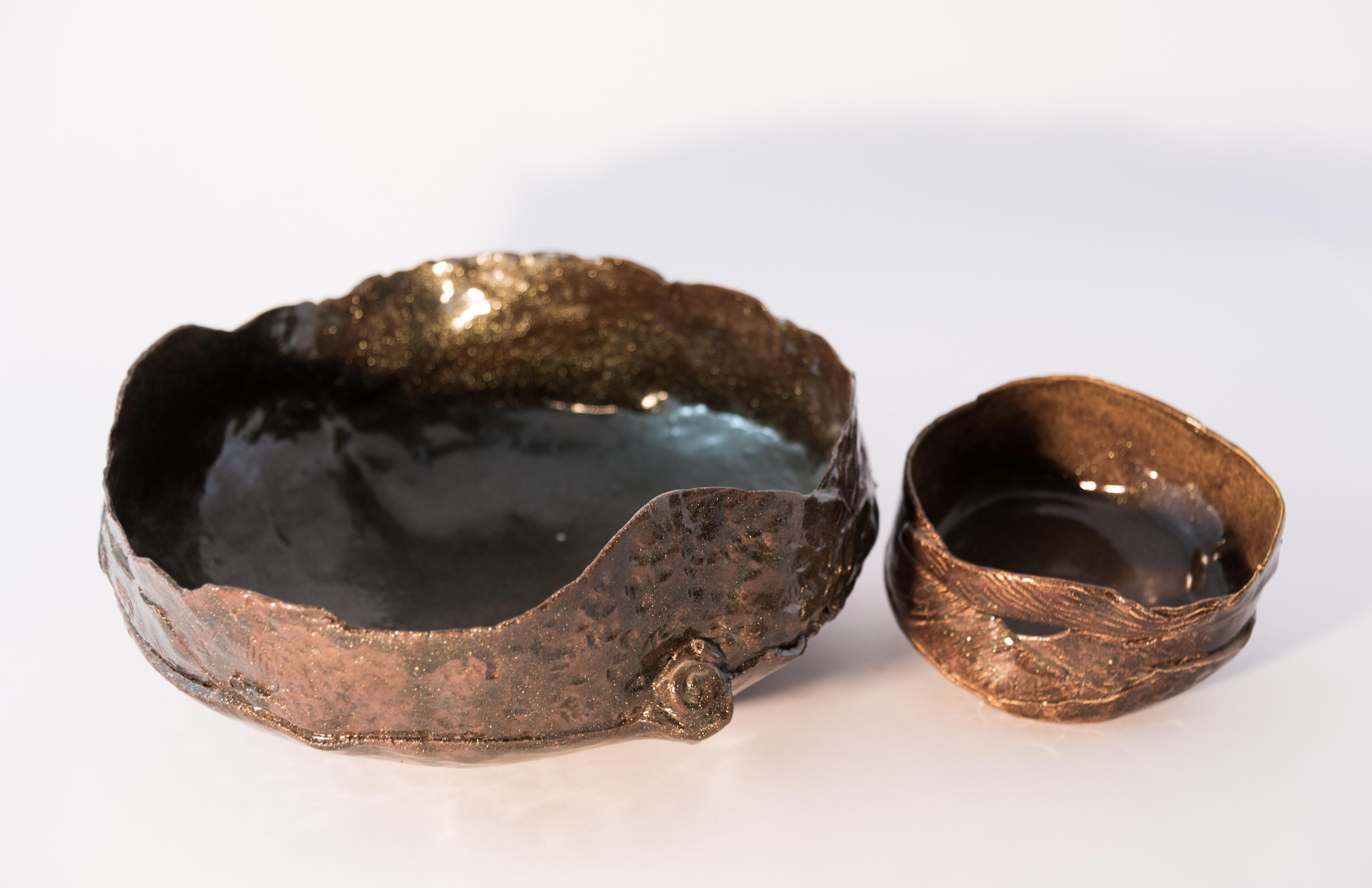 Ciotola in ceramica glitterata
