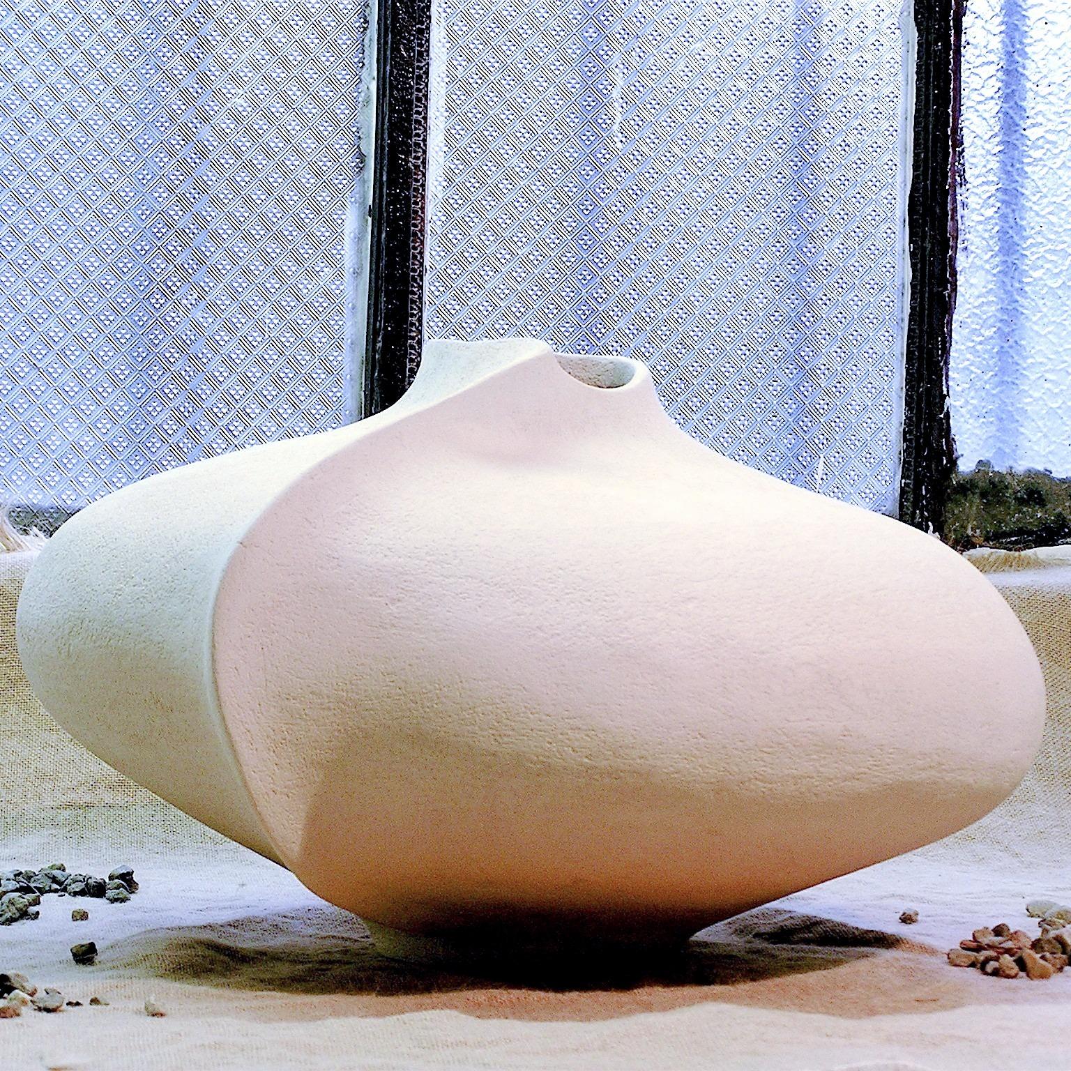Vaso in ceramica grande bianco