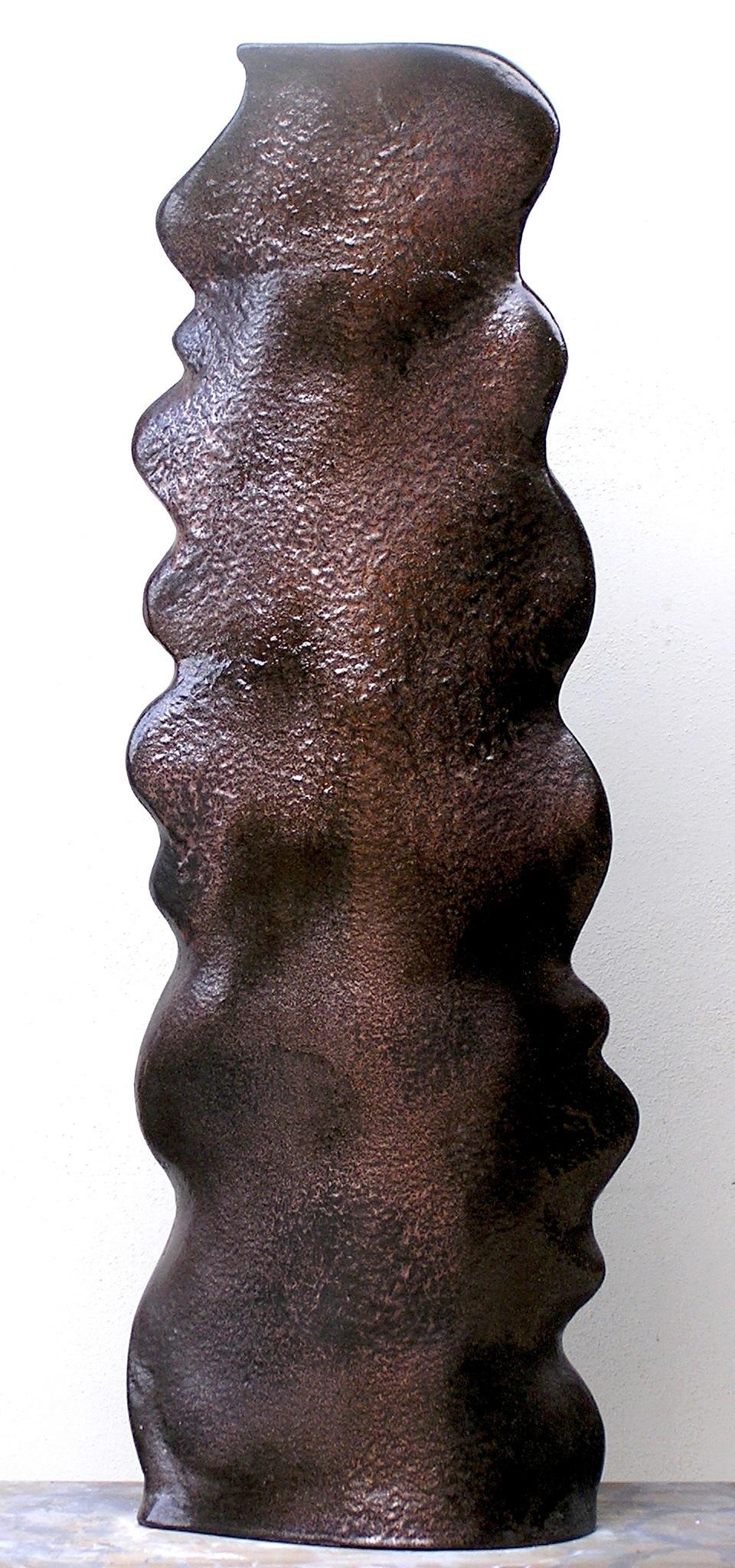 Vaso in ceramica ondulato glitter