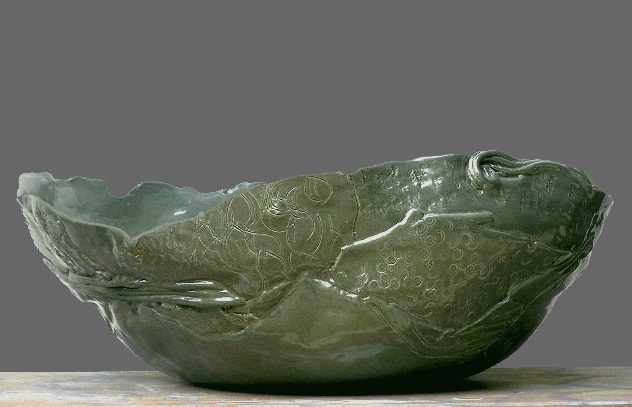 Ciotola in ceramica verde