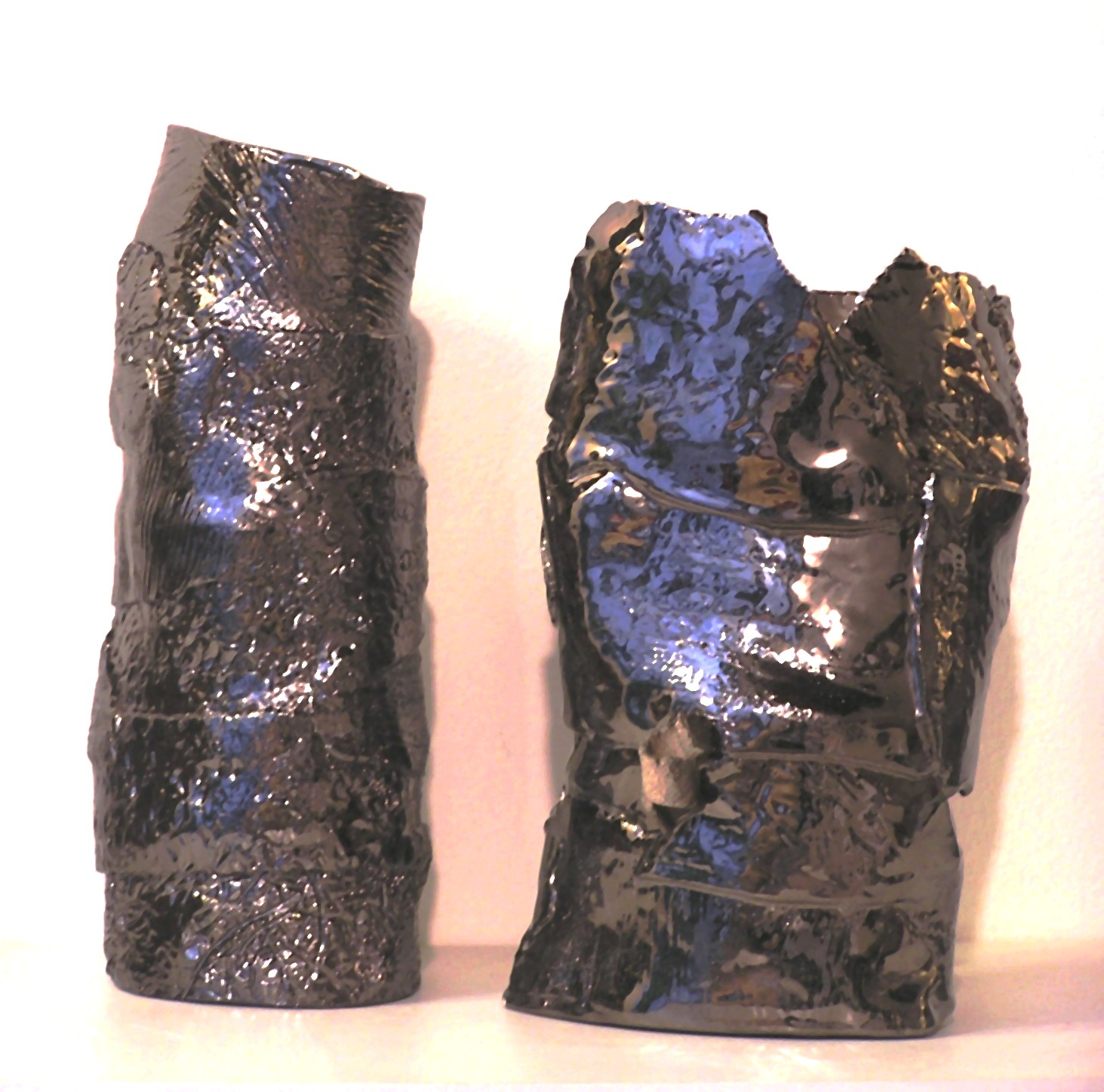 Vaso in ceramica metallizzato
