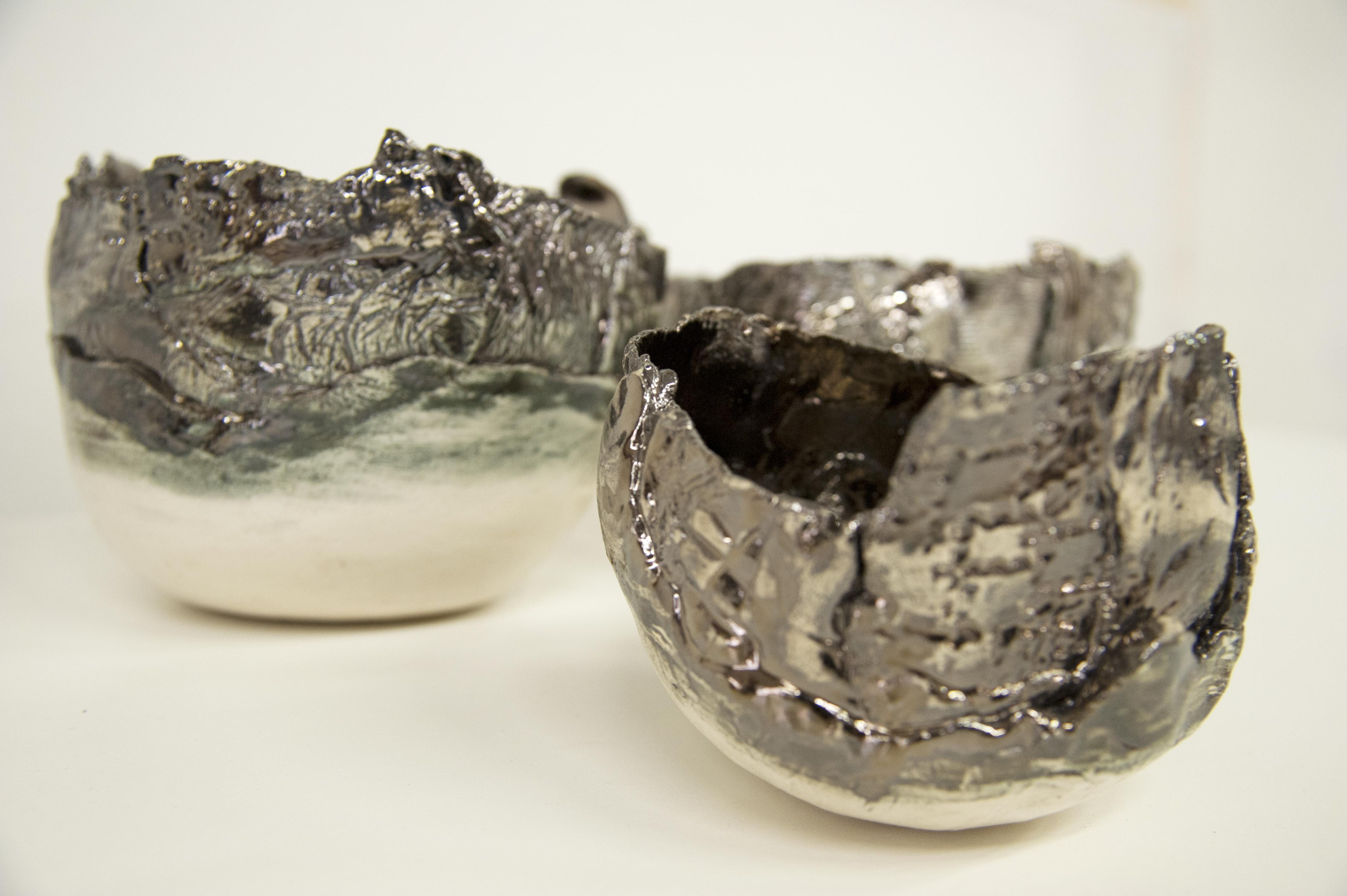 Ciotola in ceramica metallizzata