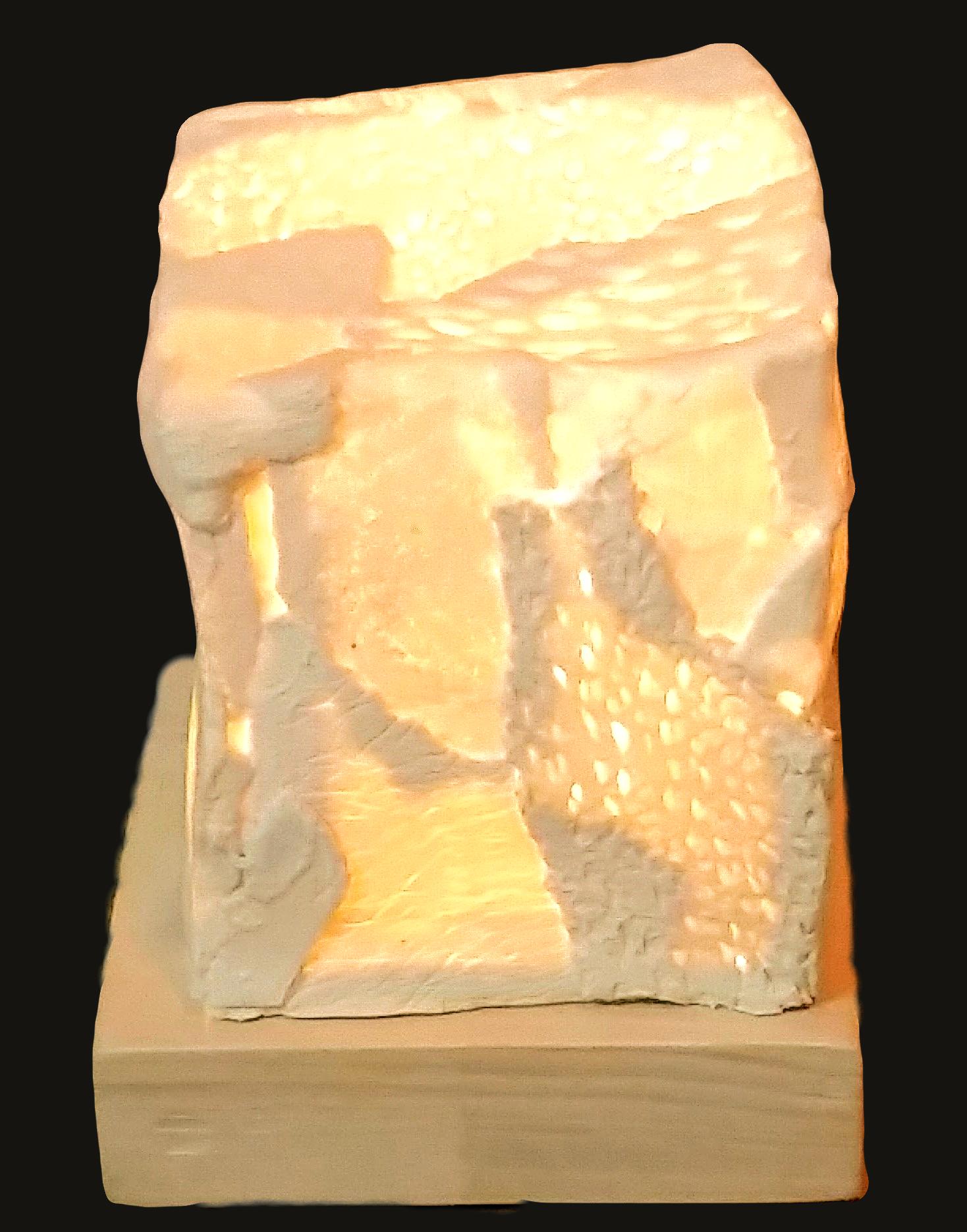 Lampada da comodino in porcellana