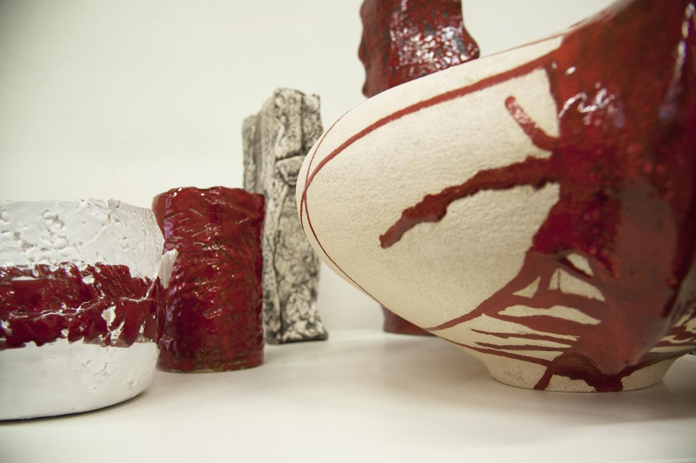 Vaso in ceramica rosso