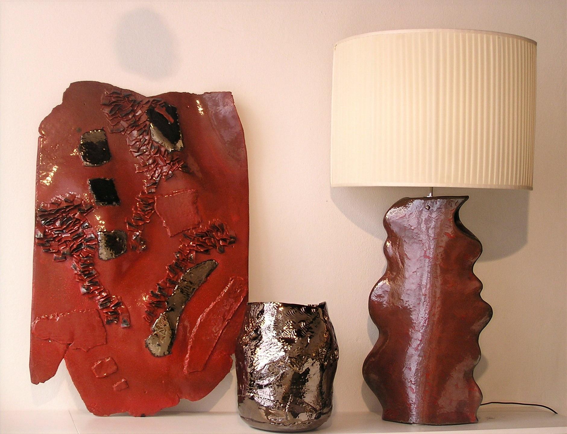 Lampada rosso metallizzato