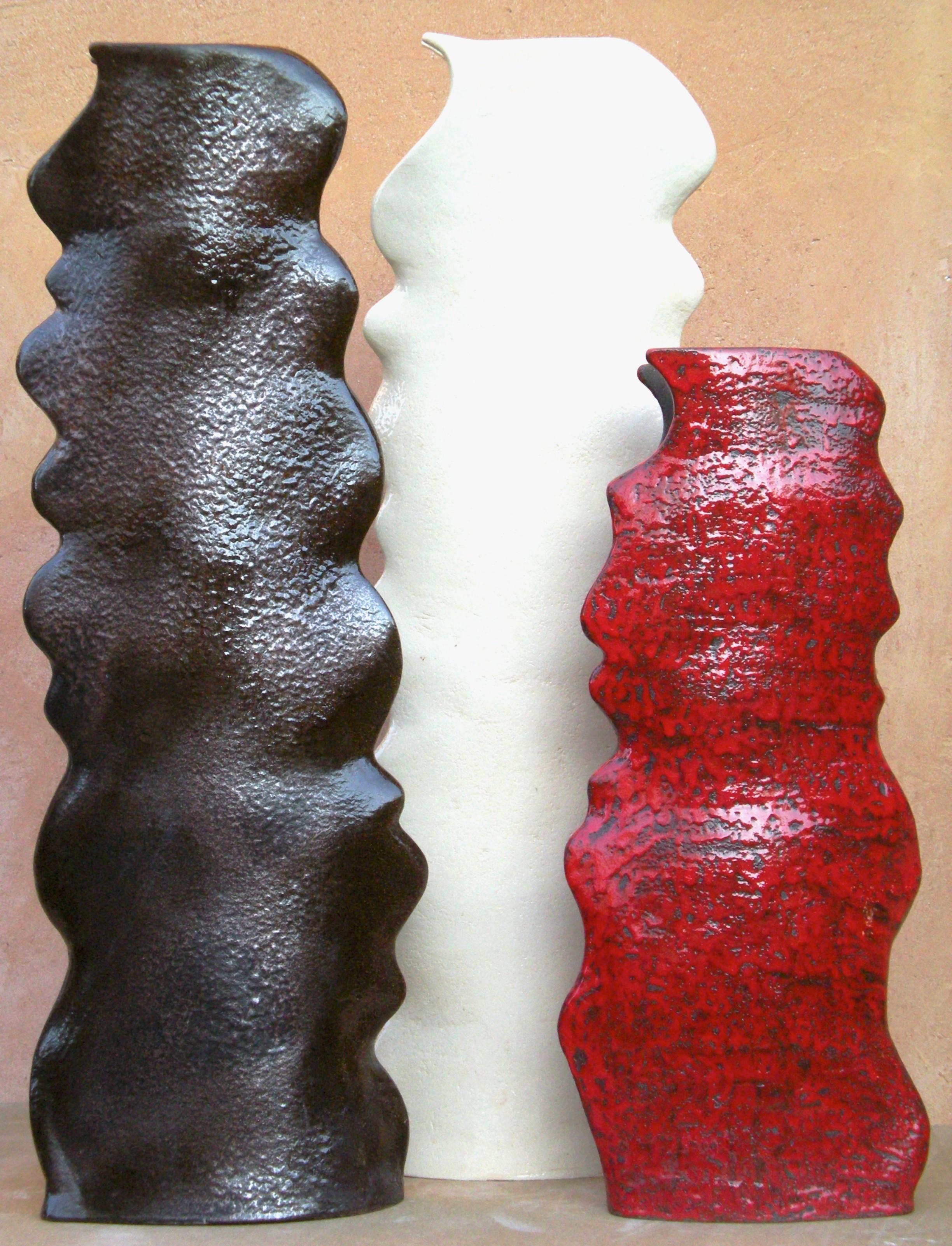 Vaso in ceramica alto smaltato