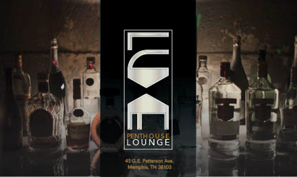 LUXE Lounge logo and flyer design