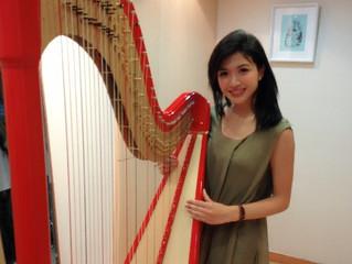 2013香港小姐選美優勝者 陳偉琪Vicky Chan蒞臨台灣豎琴中心 挑選及演奏豎琴