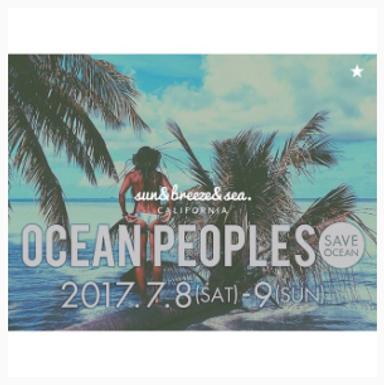 2017/OCEAN PEOPLES出店決定!
