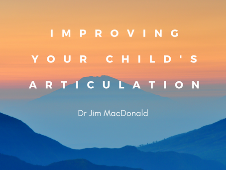 Improving Your Child's Articulation