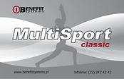Akceptujemy karty Multisport Classic