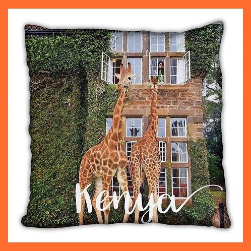 Kenya Themed Pillow