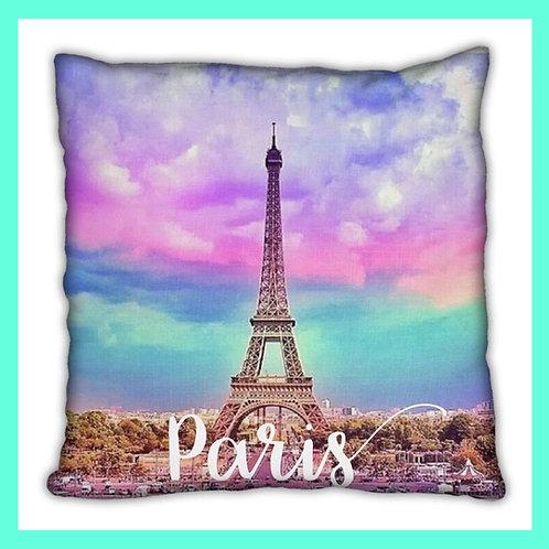 Paris Themed Pillow