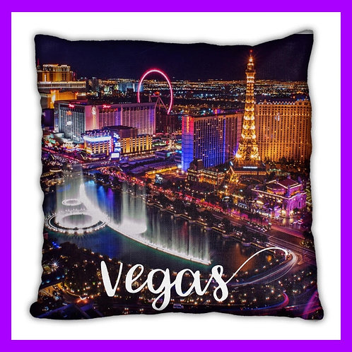 Las Vegas Themed Pillow