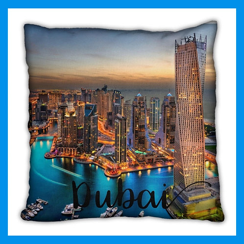 Dubai Themed Pillow