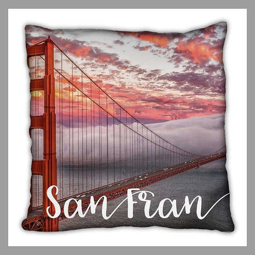 San Francisco Themed Pillow
