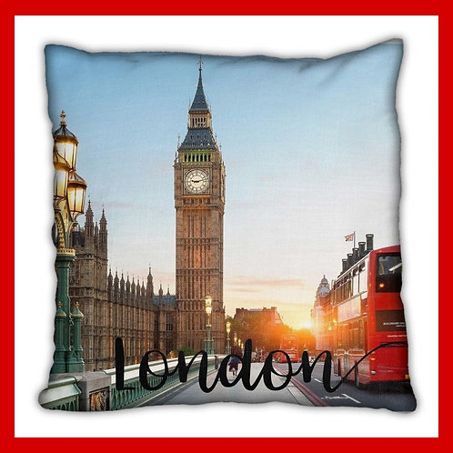 London Themed Pillow