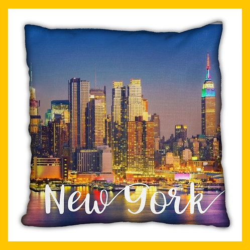 New York Themed Pillow