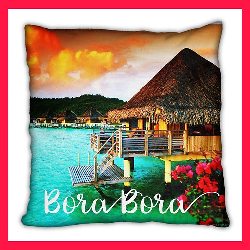 Bora Bora Themed Pillow
