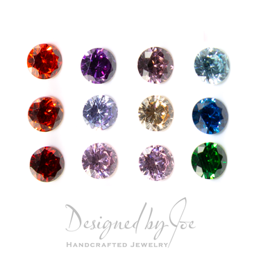 Coloured 4mm CZ