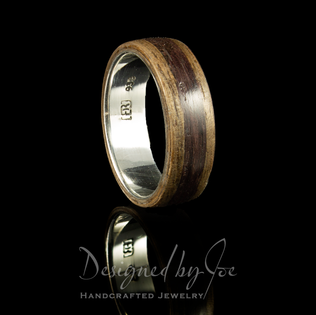 Walnut and Rosewood Ring