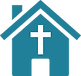 Hermann United Methodist Church with Cross