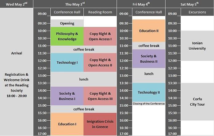 timetable Corfu2018