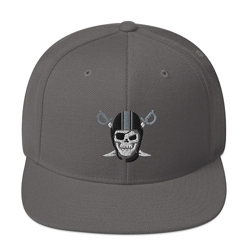 Silver and Black attack Snapback Cap