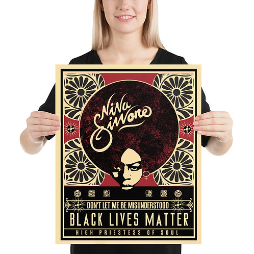 Nina Simone Black Lives Matter Poster on Photo paper poster