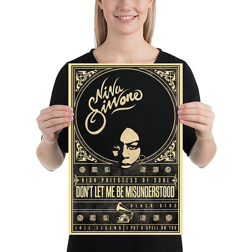 Nina Simone Poster-12x18