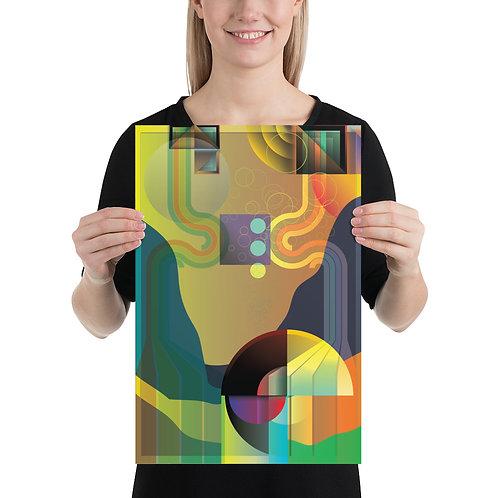 310BrandLA Abstract Poster 12 x 18