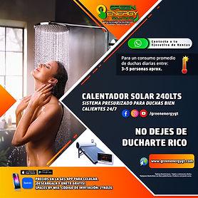 Calentador Solar 240lts