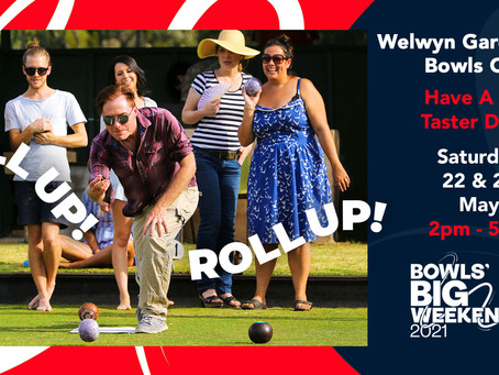 Upcoming Event: Bowls Taster / Open Days