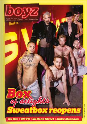 BOYZ Magazine - Sweatbox Soho cover
