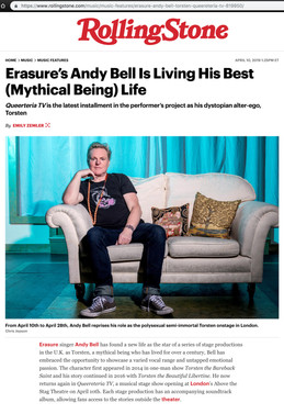 Rolling Stone magazine - Andy Bell portrait