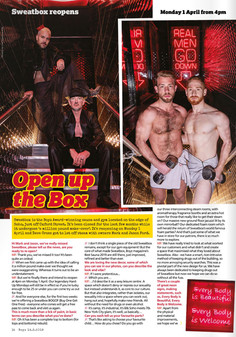BOYZ Magazine - Sweatbox Soho