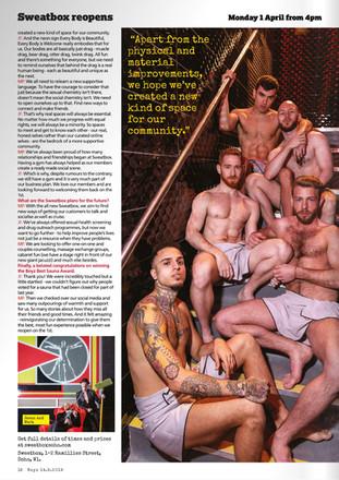 BOYZ Magazine - Sweatbox Soho