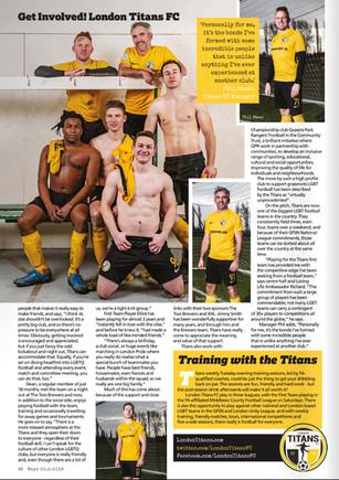 BOYZ Magazine - Titans FC editorial