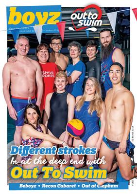 BOYZ Magazine - Out To Swim cover